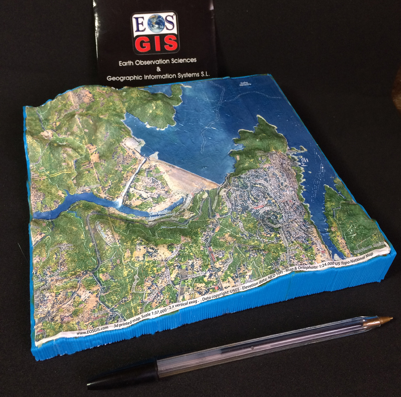 EOSGIS SL Bespoke Relief Maps EOSGIS SL - 3d us map elevation